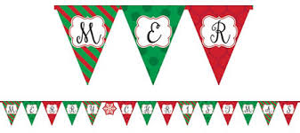 merry christmas banner hanging christmas decorations