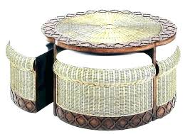 round wicker end table round wicker coffee table listcleanupt com