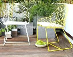 Metal Garden Chairs And Table Metal Garden Dining Table And Chairs White Outdoor Set Galvanized