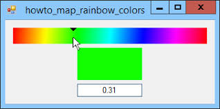 map numeric values to and from colors in a color gradientc helper