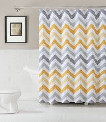 Yellow White Chevron Curtains Amazon Com 100 Cotton Fabric Shower Curtain Chevron Design