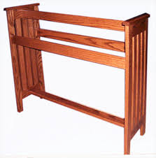 a handcrafted mission style solid hardwood amish made floor rack