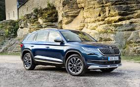 crossover cars 2017 download wallpapers skoda kodiaq sportline 2017 cars crossovers