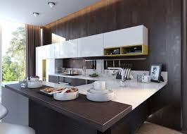 two tone kitchen cabinets modern white bakcsplash painted