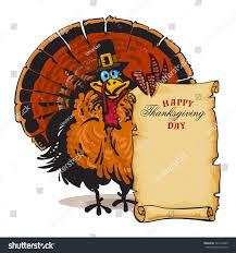 thanksgiving turkey wearing pilgrim hat stock vector