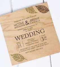 wooden wedding invitations wooden wedding invitations isura ink