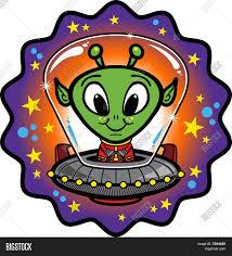 cute cartoon alien ufo image u0026 photo bigstock