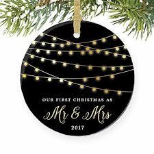 amazon com first christmas as mr u0026 mrs ornament 2017 1st married