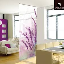 room divider screens hanging panel room divider screen with flower painted made of