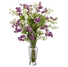 home decoration cool purple and white fake floral arrangements