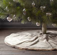 luxe faux fur tree skirt luxe faux fur restoration hardware