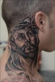 27 nice jesus neck tattoos