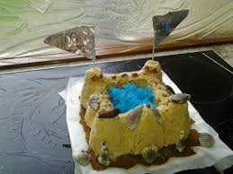 cooking sand castle birthday cake