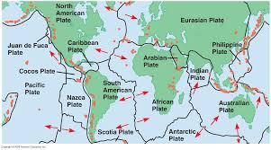 Map Of Tectonic Plates Theory Of Plate Tectonics Lesson 0078 Tqa Explorer