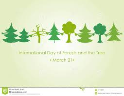 international day of forests and the tree stock vector image