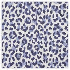 Blue Leopard Print Leopard Print Fabric Zazzle