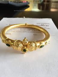 gold bangle bracelet design images 16 grams gold bangle design bangle emeralds and gold jpg