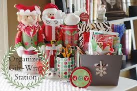 present wrapping station organized gift wrap station simply organized