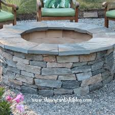 Firepit Bricks How To Diy A Pit Pea Patio Start To Finish Shine