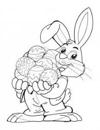 easter bunny coloring pages easter for kids pinterest