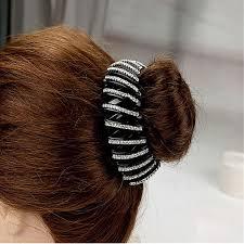 hair holders new headwear bird s nest ponytail holder hairpin rhinestone big