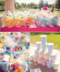 cotton candy party favor candy coated chevron polka dot birthday party hostess