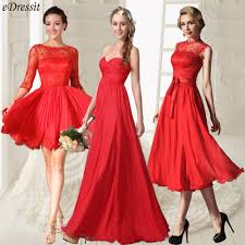 red bridesmaid dresses for valentine wedding simple elegance