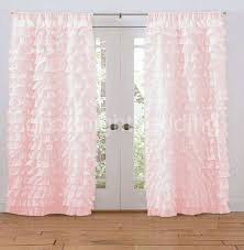 Frilly Shower Curtain Pink Ruffle Curtain