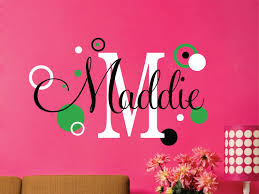 Baby Name Decor For Nursery Childrens Wall Decals Name Wall Decal Wall Decals Nursery