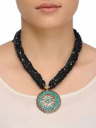 blue beaded necklace images Buy black blue beaded necklace online at jpg