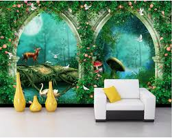 compare prices on fairy wall mural online shopping buy low price custom photo 3d room wallpaper fantasy arch fairy tale forest decoration painting 3d wall murals wallpaper