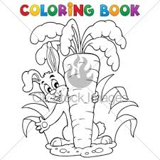 coloring book vegetables gl stock images