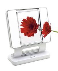 ott lite natural daylight makeup mirror white chrome 26 watt amazon co uk lighting