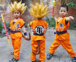Dragon Halloween Costume Kids Aliexpress Buy Japanese Anime Dragon Ball Goku Cosplay