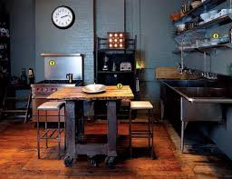 industrial style kitchen island whimsical industrial kitchen design ideas rilane