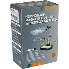 magnifier with led light zd10mb helping hand soldering stand with magnifier led light