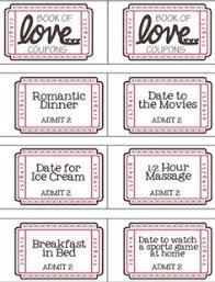 free printable valentine coupon booklet templates printable free