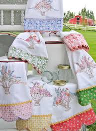 Machine Embroidery Designs For Kitchen Towels by Hand Embroidery Pattern Grandmas Tea Towels Embroidery
