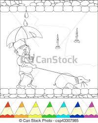 vector gnome walking mole coloring gnome walking