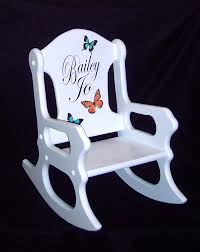Ladybug Rocking Chair Personalized Kids Gift Toddler Rocking Chair With Butterflies