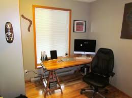 an uncluttered and efficient new home working desk ruminating