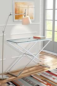 Glass Hallway Table My Furniture Anikka Modern Chrome And Glass Console Hallway