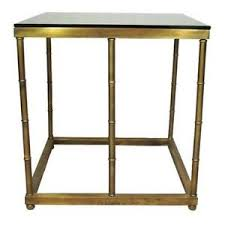brass and glass end tables glass end table ebay