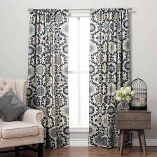 Blue Ikat Curtain Panels Appealing And Gardens Scroll Curtain Panel Colorful Picture For