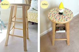 Diy Side Table Diy Side Table Made From A Stool Ask Anna