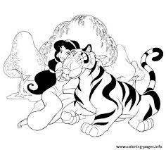 jasmine loves pet disney princess s8292 coloring pages printable