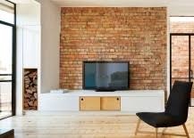 brick wall design brick wall living rooms that inspire your design creativity