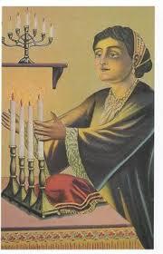israel rubinstein lighting shabbat candles judaica jewish art oil