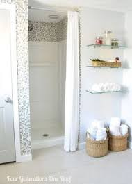 Shower Stall Curtains Walk In Standing Shower With Shower Curtain Instead Of Glass Door