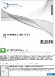ecpe sample b test audio file pdf